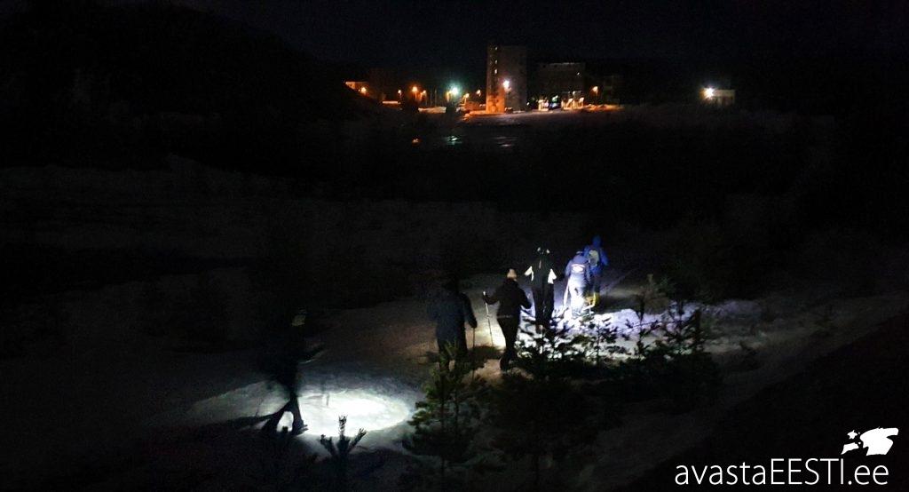 Matkajuhtide öömatk Kohtla-Nõmme Alpides (Marko Kaldur)